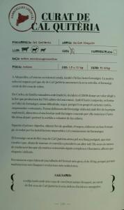 """El curat de llet crua de Cal Quitèria ja forma part del llibre  """"Formatges, ELS 50 MILLORS DE CATALUNYA"""""""