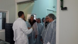 Alumnes del Centre d'Ensenyament Agrícola de Chaumont (França) visiten Cal Quitèria.