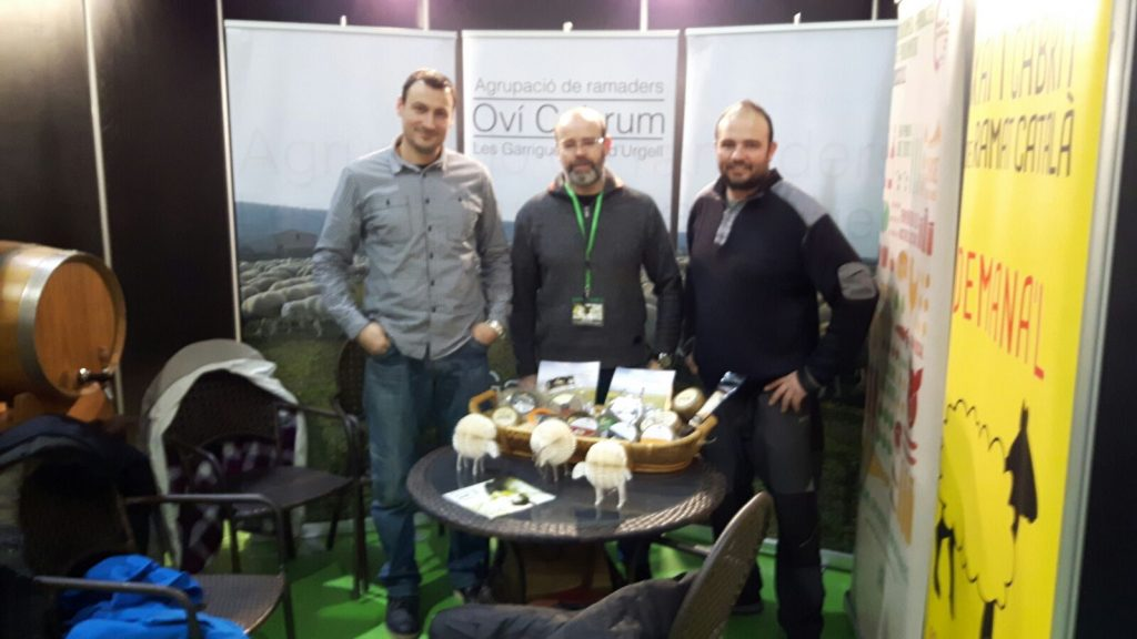 """Promocionant la certificació """"Llet de cabres catalanes """" a Fira de l'Oli de les Garrigues"""