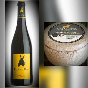 El vino joven Cap de Ruc negro y el Cal Quitèria de Leche Cruda, dos que se enamoran en el paladar.
